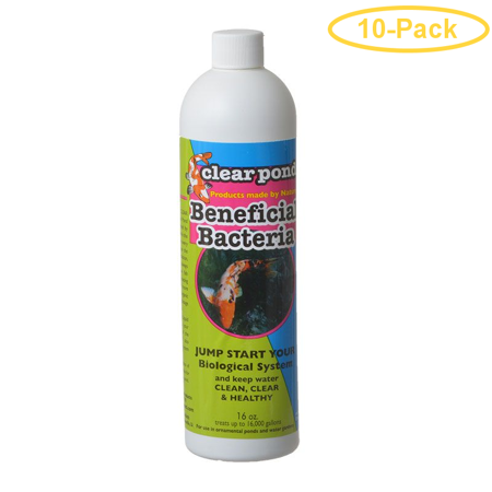 Clear Pond Live Beneficial Bacteria Formula 16 oz - Pack of 10