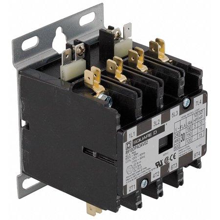 480VAC Definite Purpose Contactor; No. of Poles 4, 30 Full Load Amps-Inductive