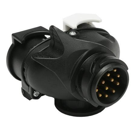 13-pin Car to 2x 7-pin 12N+12S Caravan Towing Plug Socket Adapter Electrics Tool - image 4 of 9