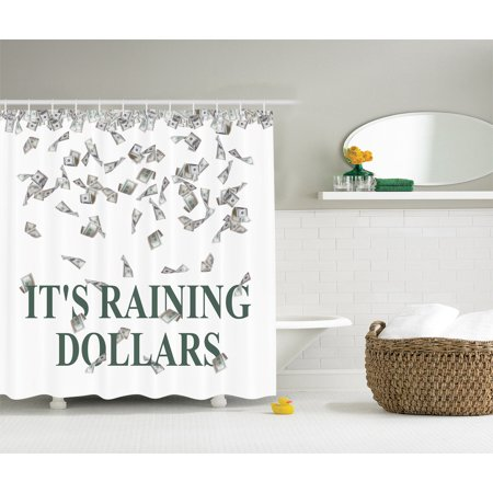 Us Dollar Raining Funny Lover Rich People Icon Home Decor Prints Shower Curtain