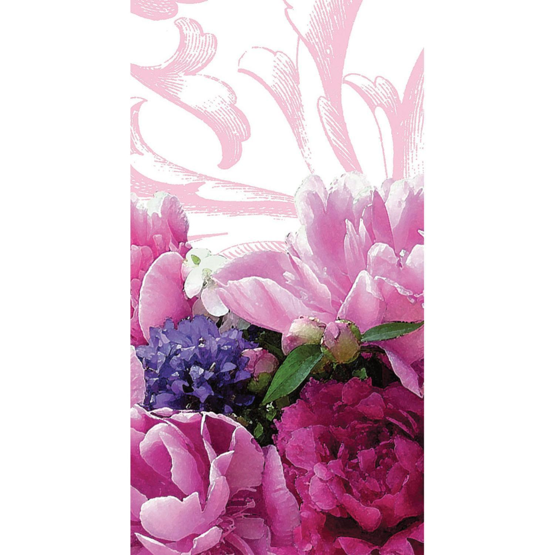 Club Pack of 240 Peony Bloom Printed Hanky Swankies Pocket Facial Tissues