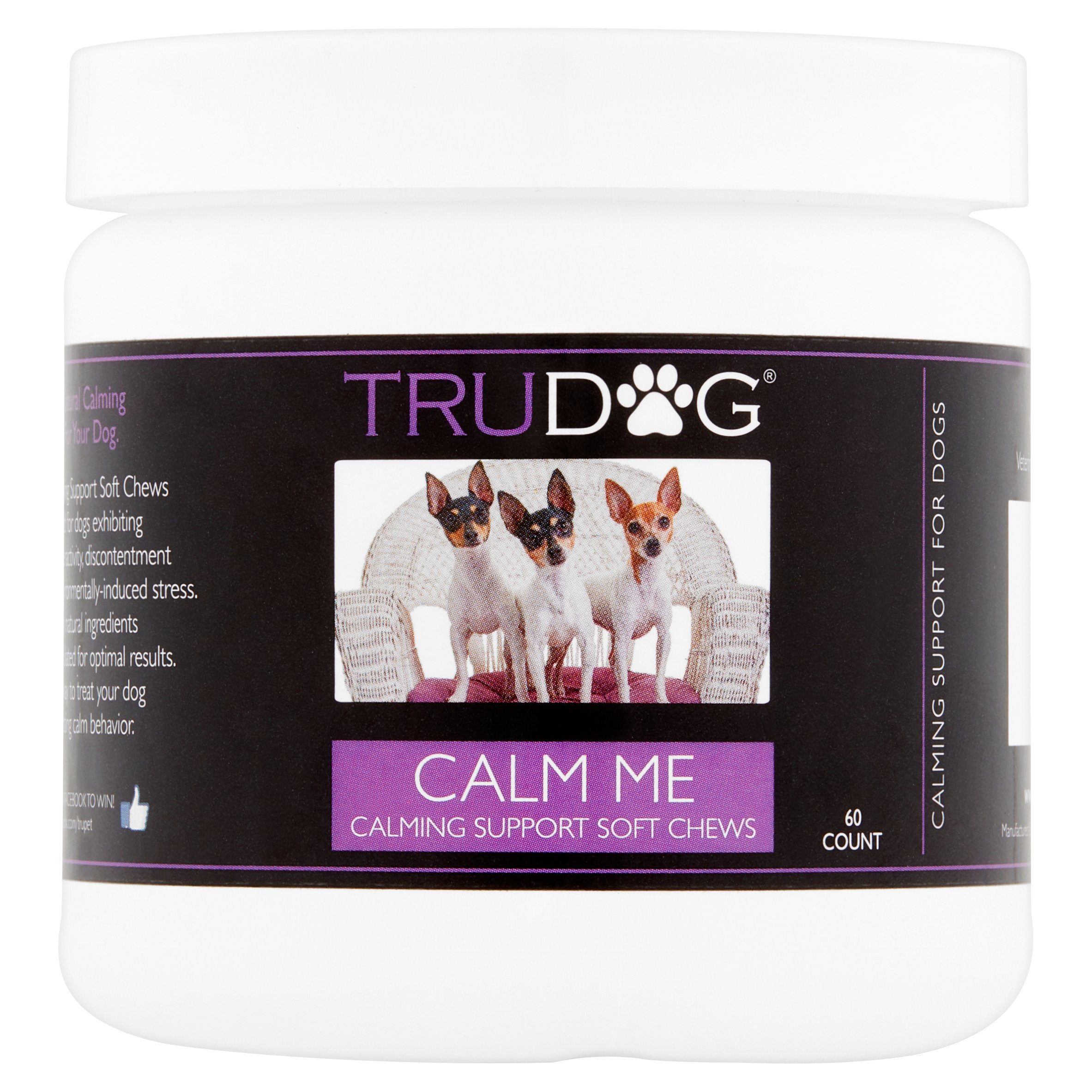 TruDog Calm Me Calming Support Chews Supplement, 60 count