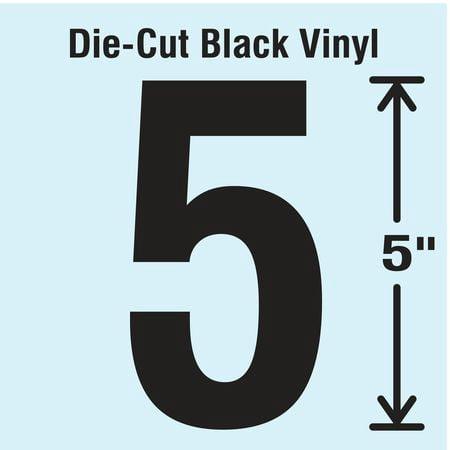 STRANCO INC DBV 5 5 10 Die Cut Number Label 5 10 CardsPK10
