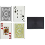 Trademark Poker Arrow Black And Gold KEM Cards Wide Jumbo 2pk