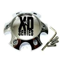 "KMC XD Series Chrome 5 1/2"" Wheel Center Hub Cap 6 Lug 6X130 H34"