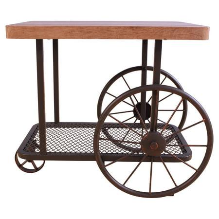 ACME Francie End Table, Oak & Antique Gray