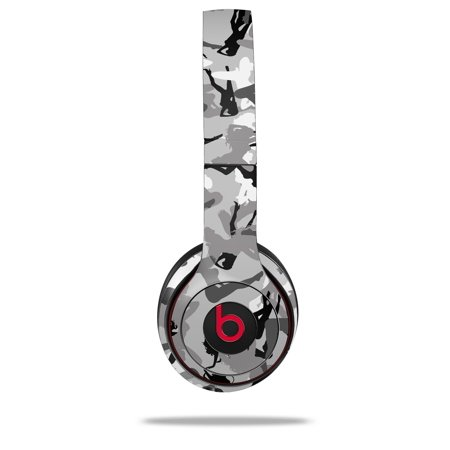 Skin Decal Wrap for Beats Solo 2 and Solo 3 Wireless Headphones Sexy Girl  Silhouette Camo Gray (BEATS NOT INCLUDED) by WraptorSkinz
