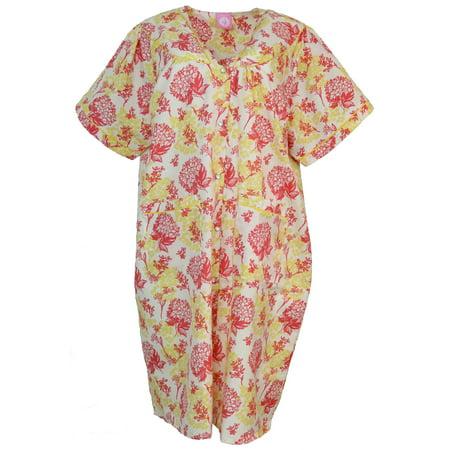 Sindrella - Sindrella Women\'s Plus Size Cotton Blend Snap Front ...