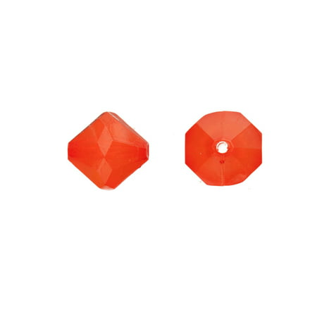 Acrylic Beads, Faceted, Semi-Transparent Red, 13mm pack of 126 (2-pack Value Bundle), SAVE (126 Beading)