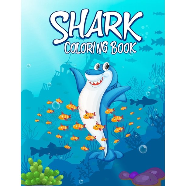 Shark Coloring Book For kids: Cute Shark Coloring Books ...