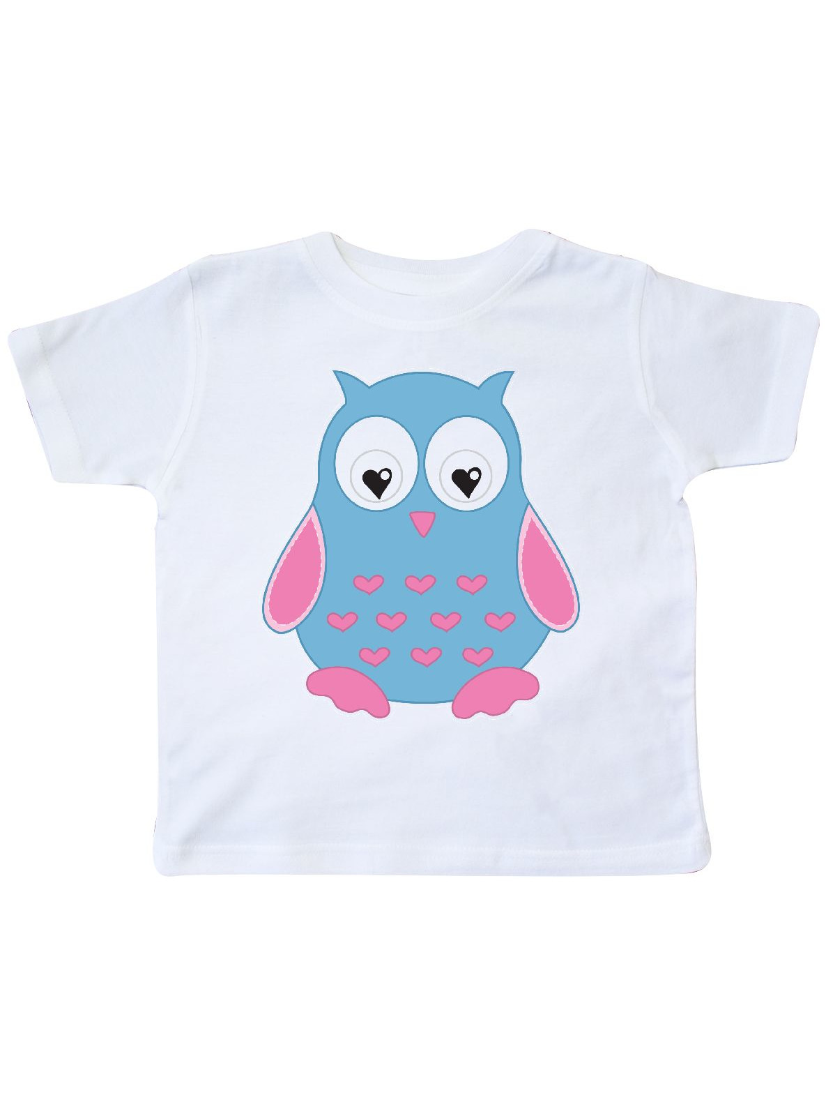 inktastic Blue Owl with Hearts Toddler T-Shirt