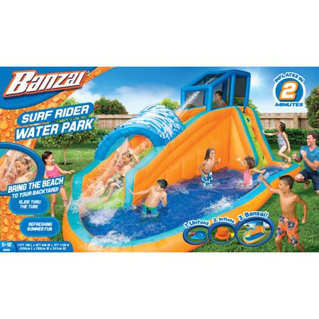 Banzai Surf Rider Aqua Park (Inflatable Water Slide Backyard Summer Fun Pool)