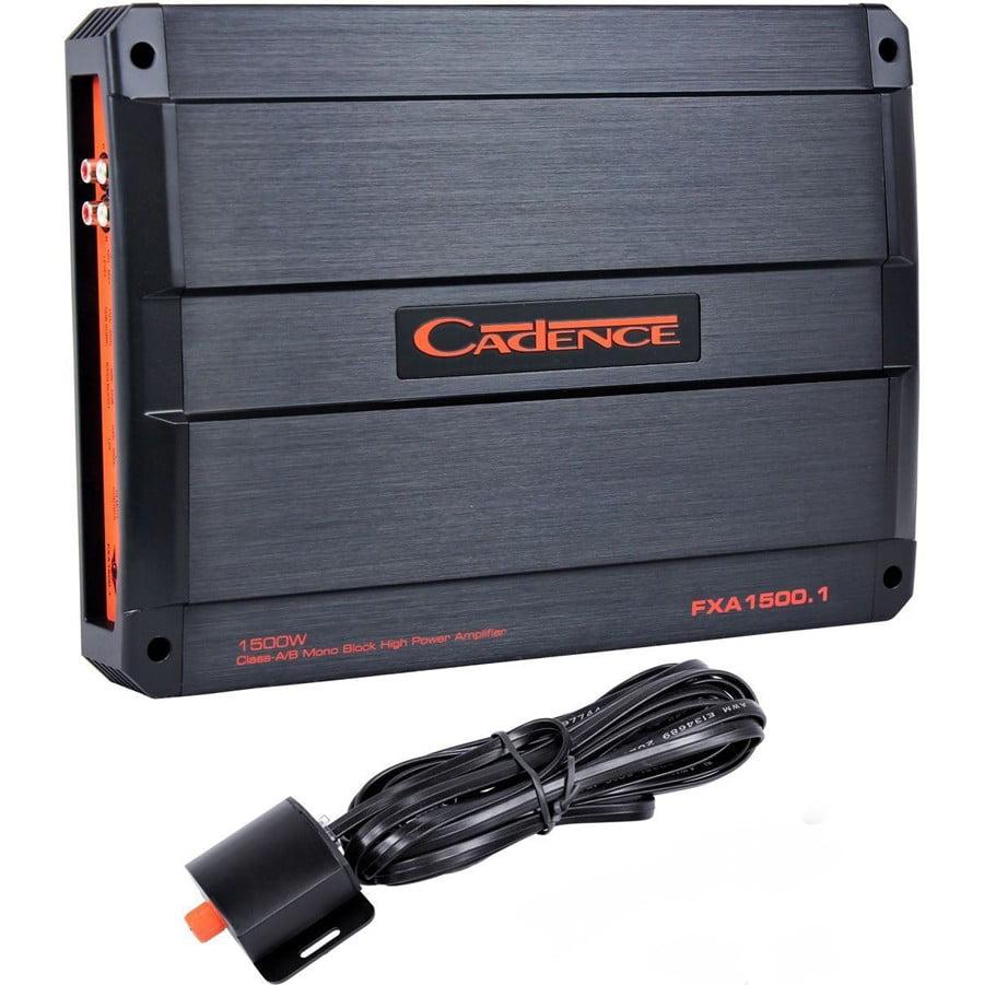 Cadence Flash FXA1500.1 1500 Watt Mono Block Car Audio Amplifier Amp+Bass Remote