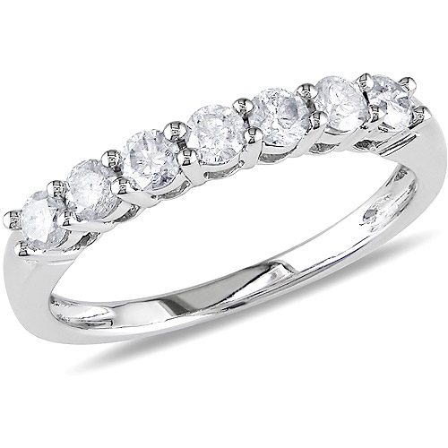 1/2 Carat T.W. Diamond Semi-Eternity Ring in 10kt White Gold