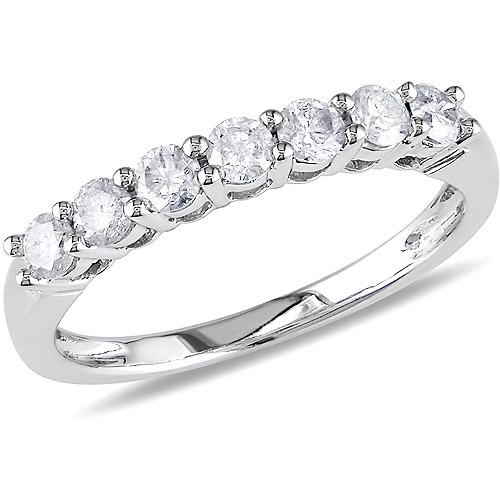 1/2 Carat T.W. Diamond Semi-Eternity Ring in 10kt White Gold
