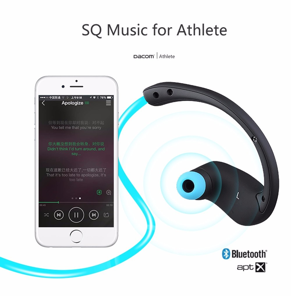 Athletic Sport Running Wireless Bluetooth 4.0 Headphones by Epiktec | Stereo + Microphone + Call Answering| Rechargeable Battery - image 7 of 9