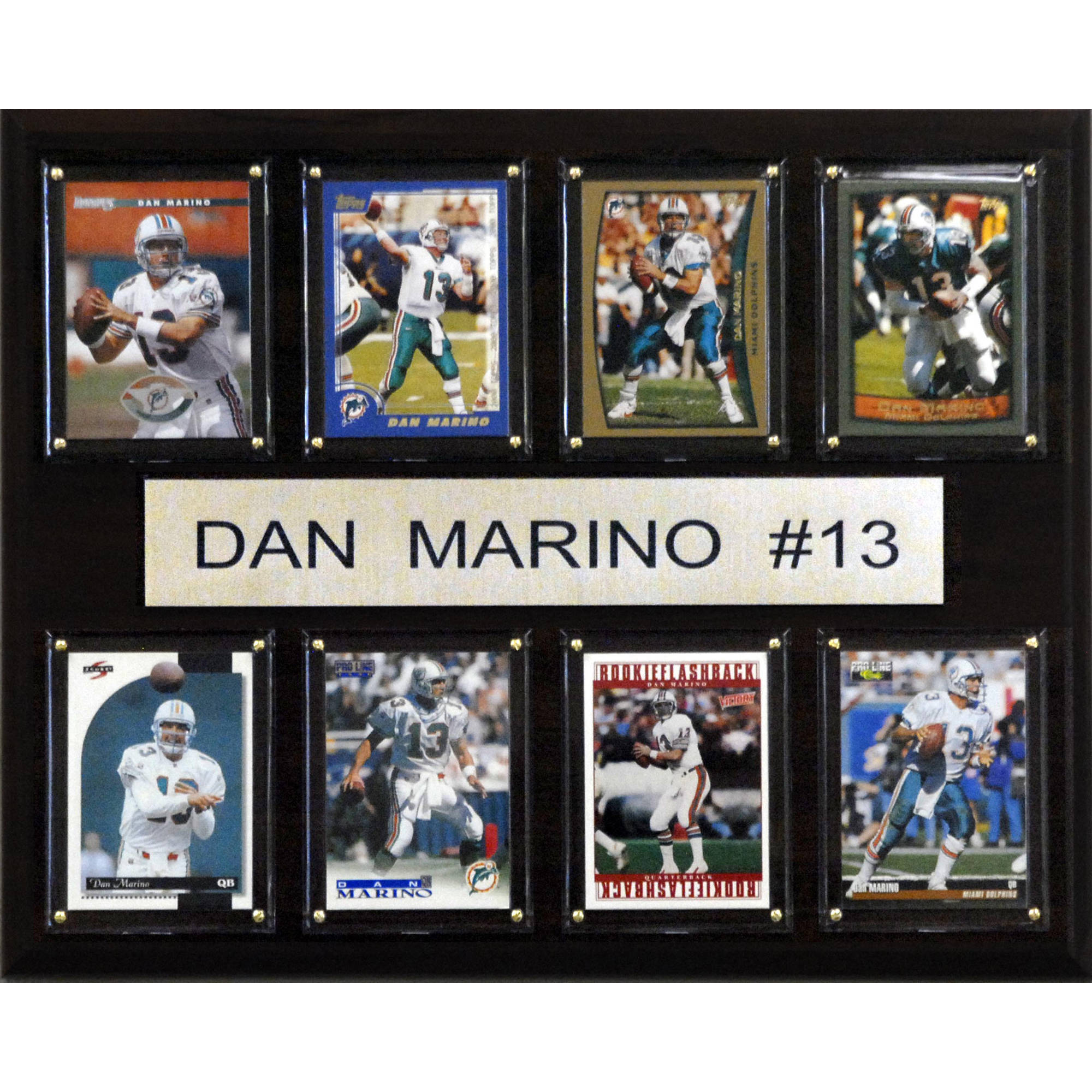 C&I Collectables NFL 12x15 Dan Marino Miami Dolphins 8-Card Plaque