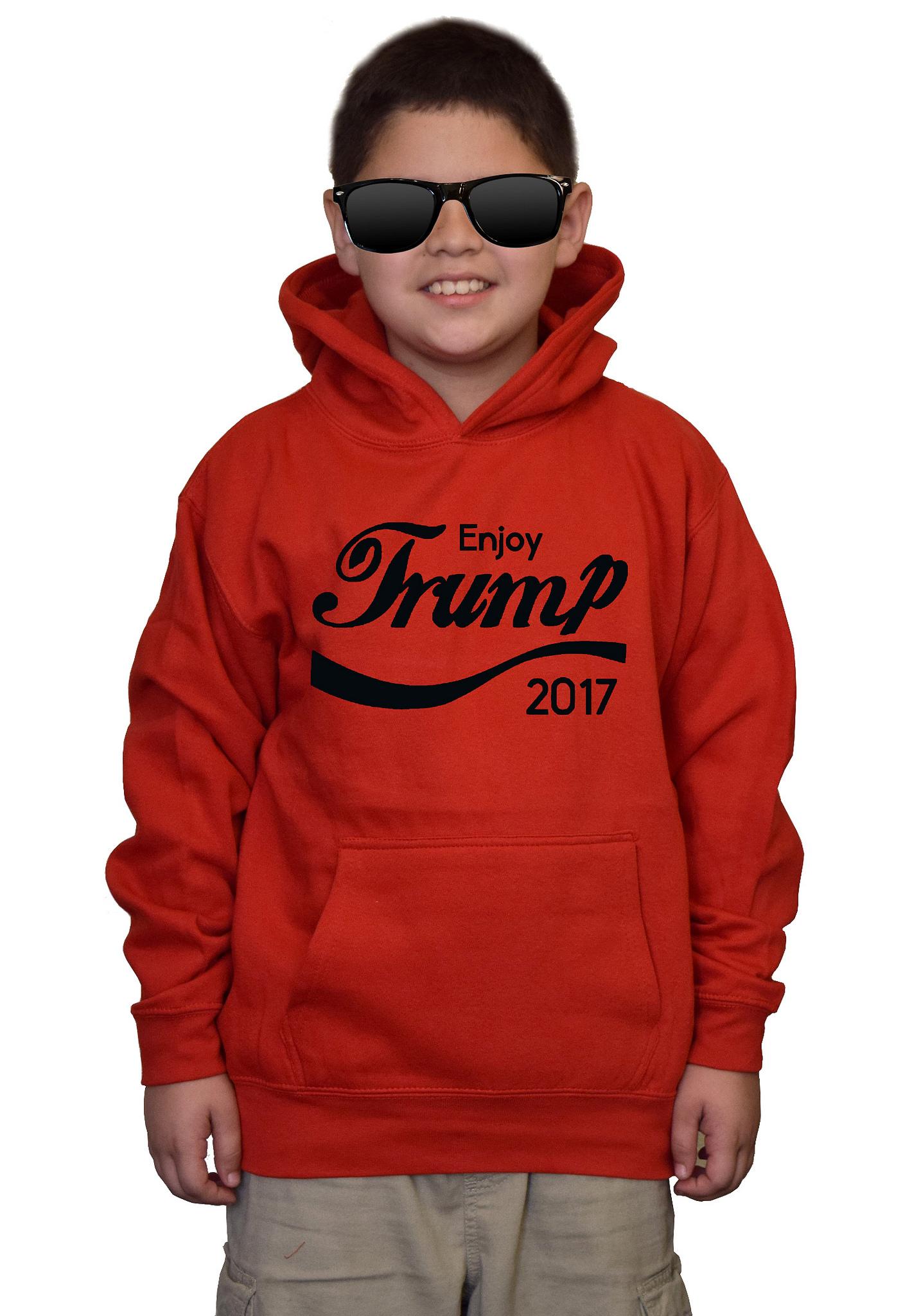 Youth Enjoy Trump V200 Red kids Sweatshirt Hoodie