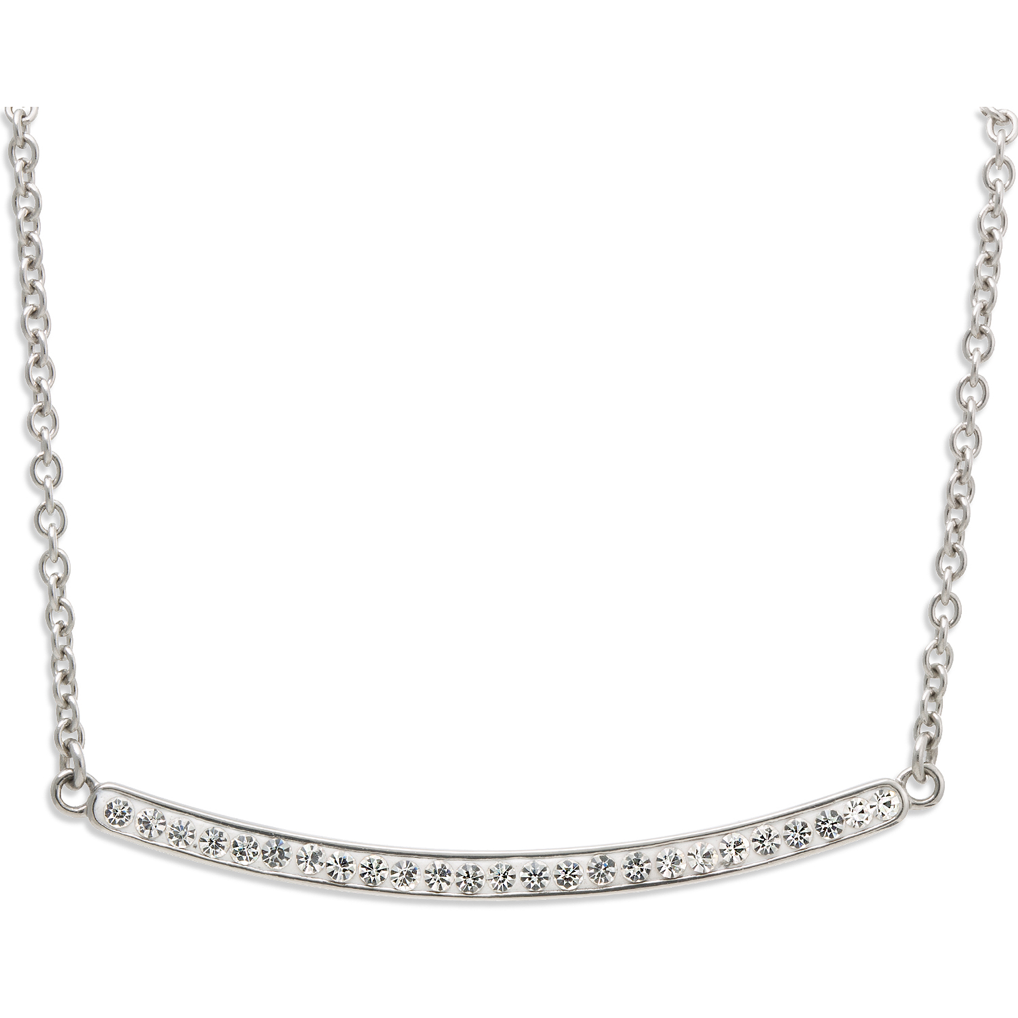 """Connections from Hallmark Stainless Steel Crystal Bar Necklace, 18"""" + 2"""" Extender"""