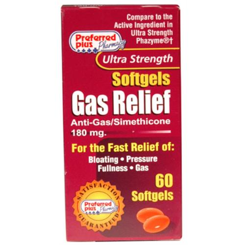 Gas Relief  180mg Softgels 60 ea (Pack of 6)