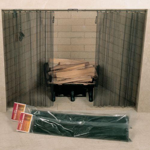 "Woodfield 61084 48"" Wide  x 26"" High Hanging Fireplace Spark Screen without Hanging Rod"