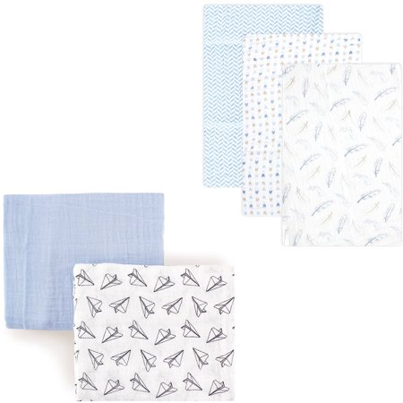 Walmart Swaddle Blankets New Hudson Baby Boys' Muslin Swaddle Blanket 60Pack Choose Your Color