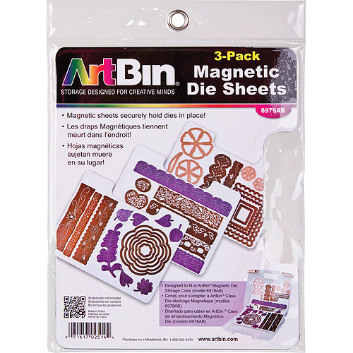 ArtBin Magnetic Die Sheets, 3/pkg