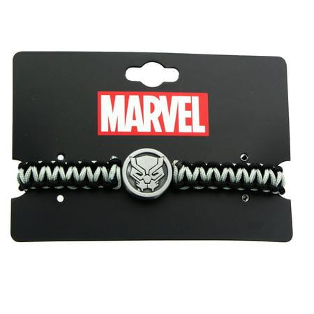 Marvel Black Panther Paracord Charm Bracelet (Carolina Panthers Jewelry)
