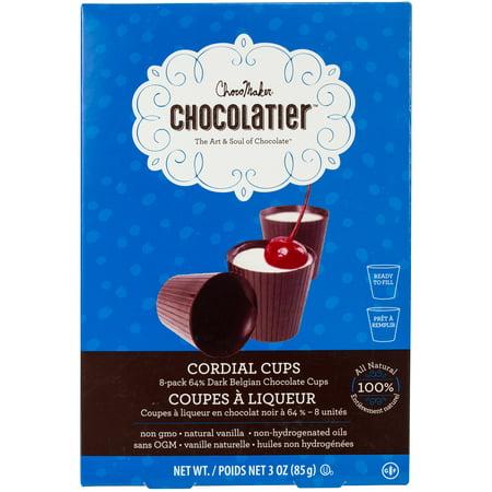 Chocomaker(R) Chocolatier(Tm) 100% Natural Premade Cups-64% Dark Belgian Chocolate Cordial (Finest Belgian Chocolate)