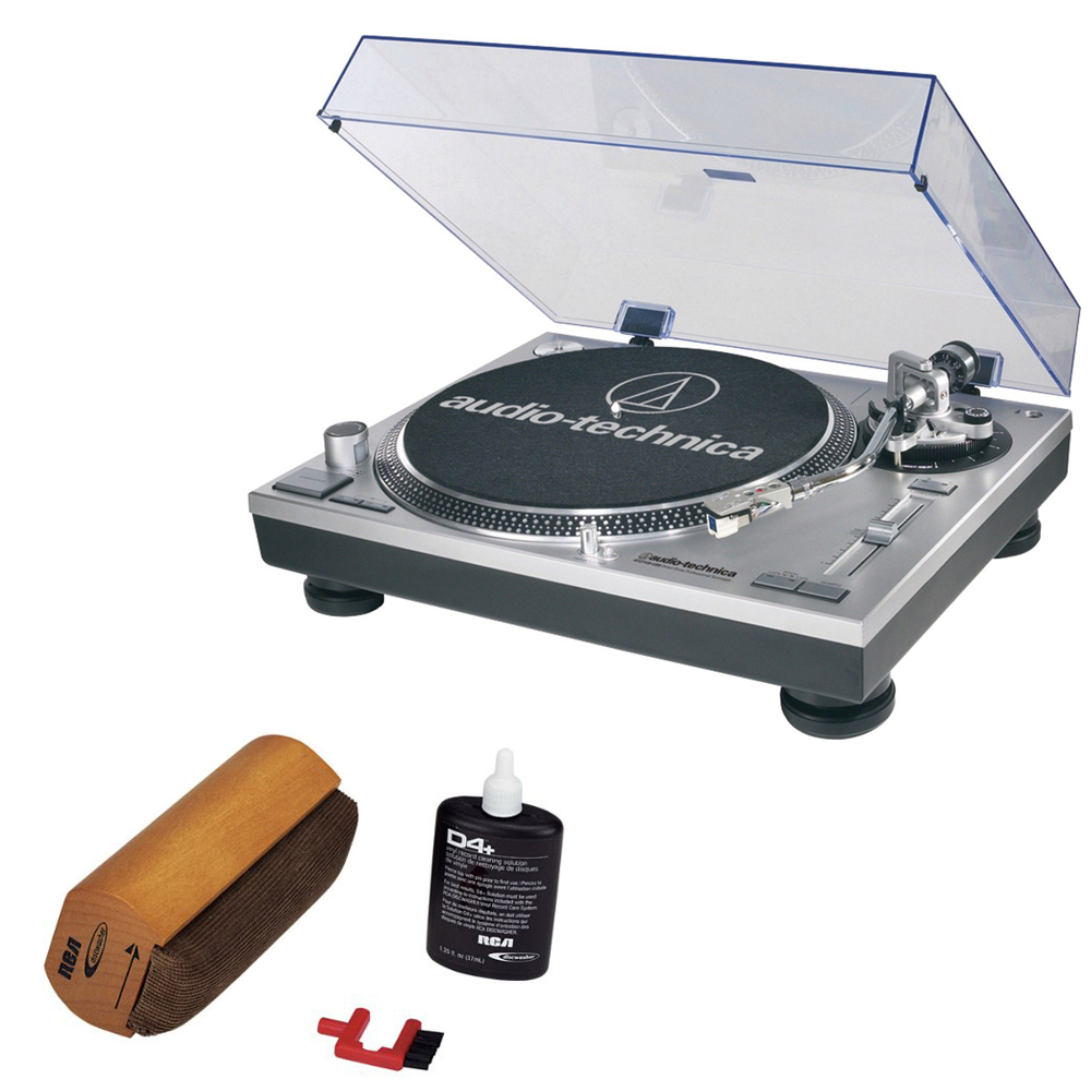 Audio-Technica ATLP120USB Professional Stereo Turntable w  USB LP to DIG With RCA Turntable Cleaning System by Audio-Technica