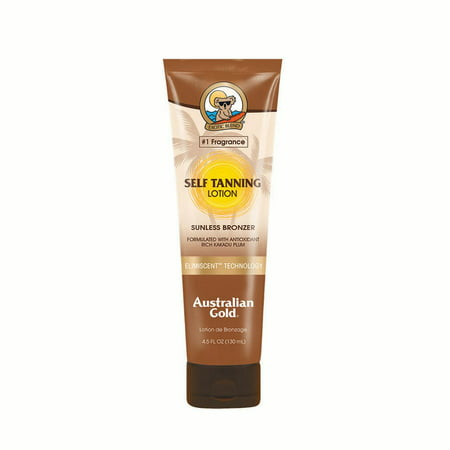 Australian Gold Self Tanning Lotion Sunless Bronzer, 4.5 FL (Skin Care Tanning Lotion)