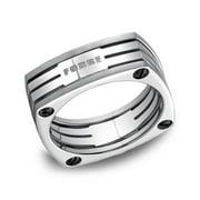 Men's 7.5 Millimeter Square Titanium Ring Size 12