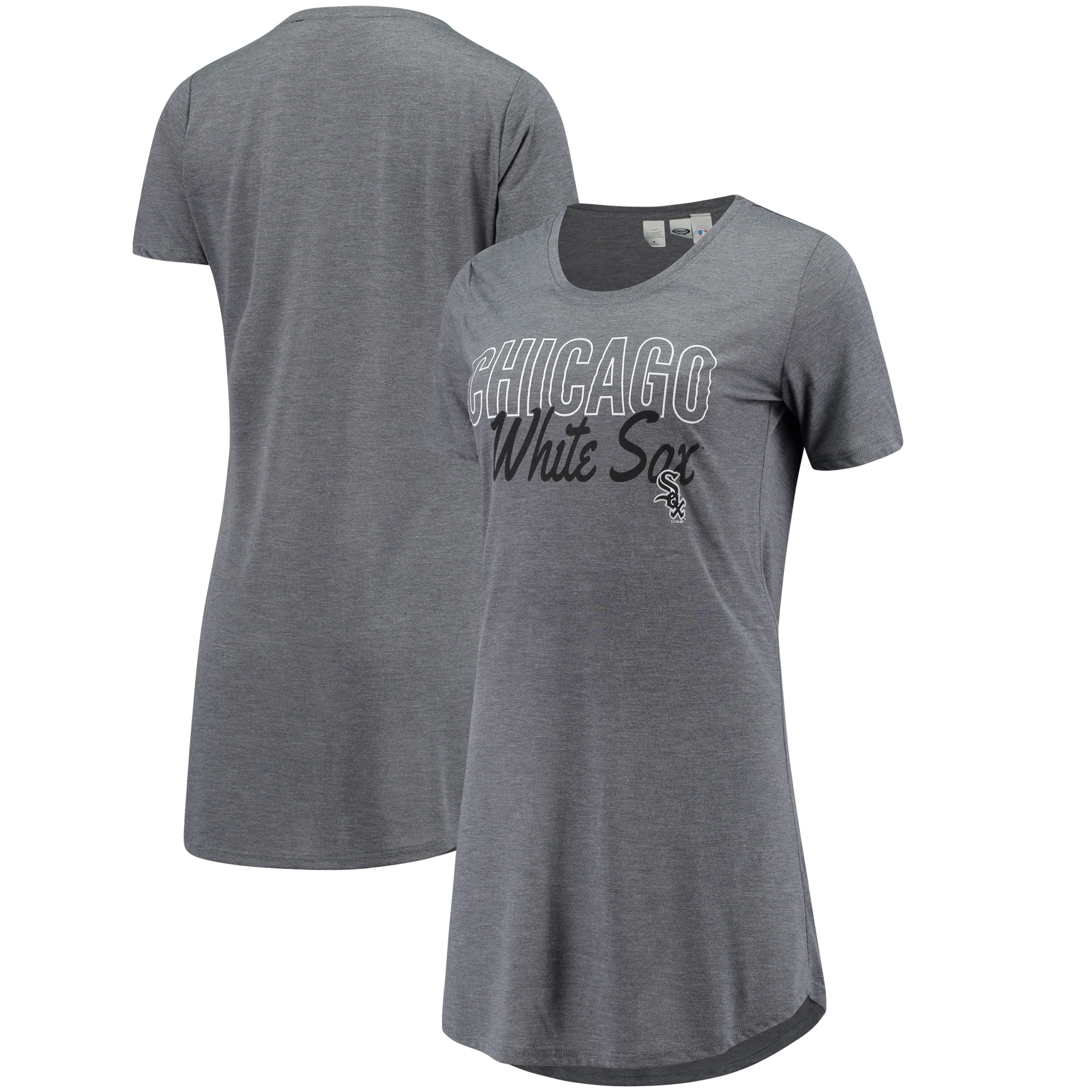 Chicago White Sox Concepts Sport Women's Knit Nightshirt - Charcoal