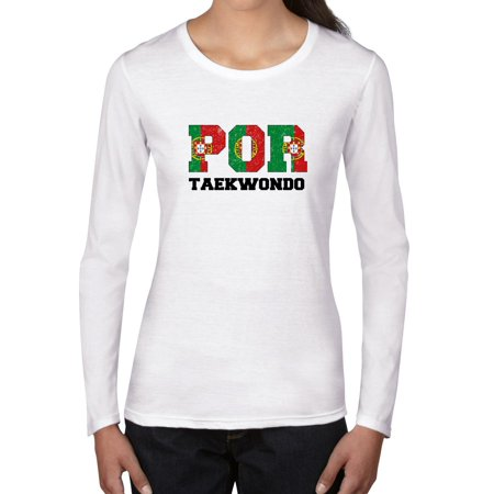 Portugal Taekwondo - Olympic Games - Rio - Flag Women's Long Sleeve T-Shirt