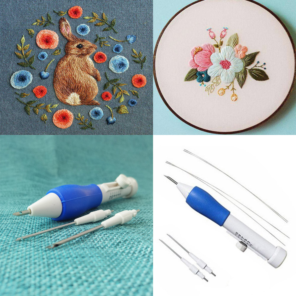 Outtop Magic Embroidery Pen Embroidery Needle Weaving Tool Fancy