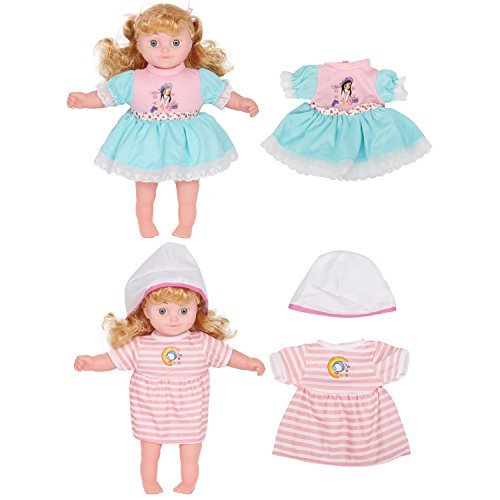 0c0c2dd24ecb1 Set of 12 Handmade Baby Doll Clothes Dress Outfits Costumes For 14-16 Inch  Dolly Pretty Doll Cloth Hat Cap Umbrella Mirror Comb Girl Christmas  Birthday Gift ...