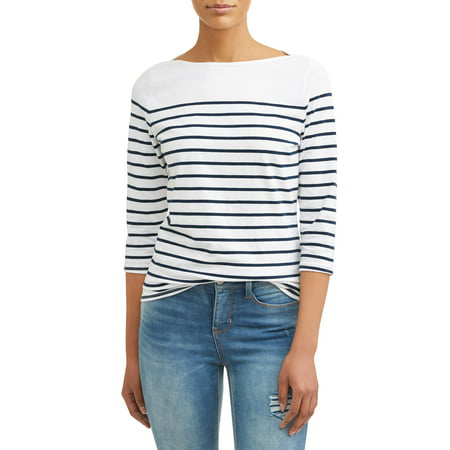 Women's 3/4 Sleeve Classic Boatneck Top