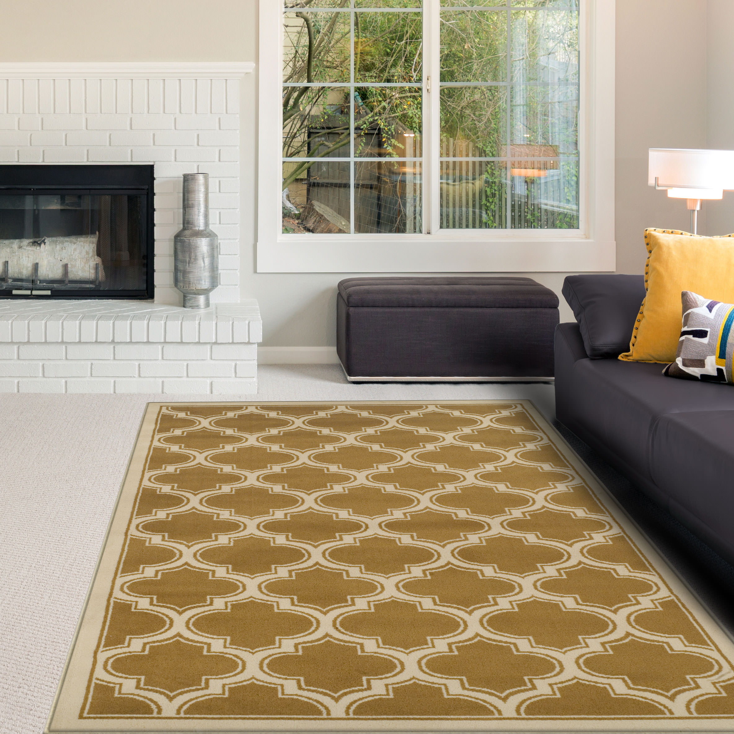 Superior 10mm Pile with Jute Backing, Trellis Pattern, Fashionable and Affordable Woven Bohemian Trellis Collection Area Rugs