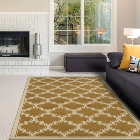 Superior 10mm Pile with Jute Backing, Trellis Pattern, Fashionable and Affordable Woven Bohemian Trellis Collection Area Rugs (Bohemian Jute Area Rug)