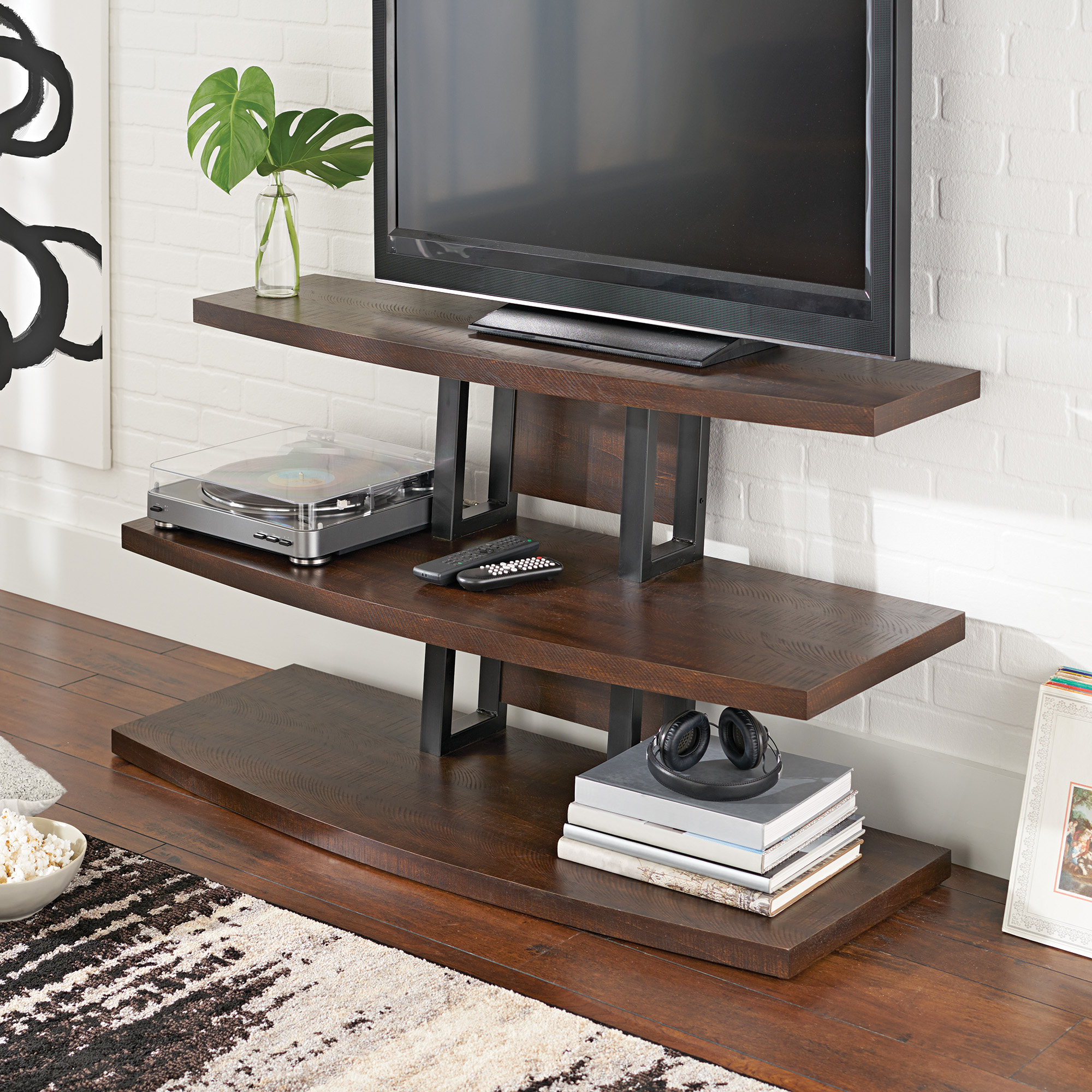 Better Homes and Gardens Walker TV Stand, Rustic Espresso by Generic