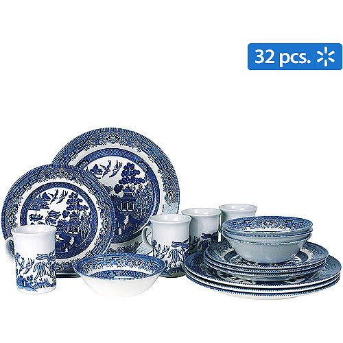 Blue Willow 32-Piece Dinnerware Set
