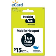 Straight Talk $15 Mobile Hotspot 30-Day Plan e-PIN Top Up (Email Delivery)