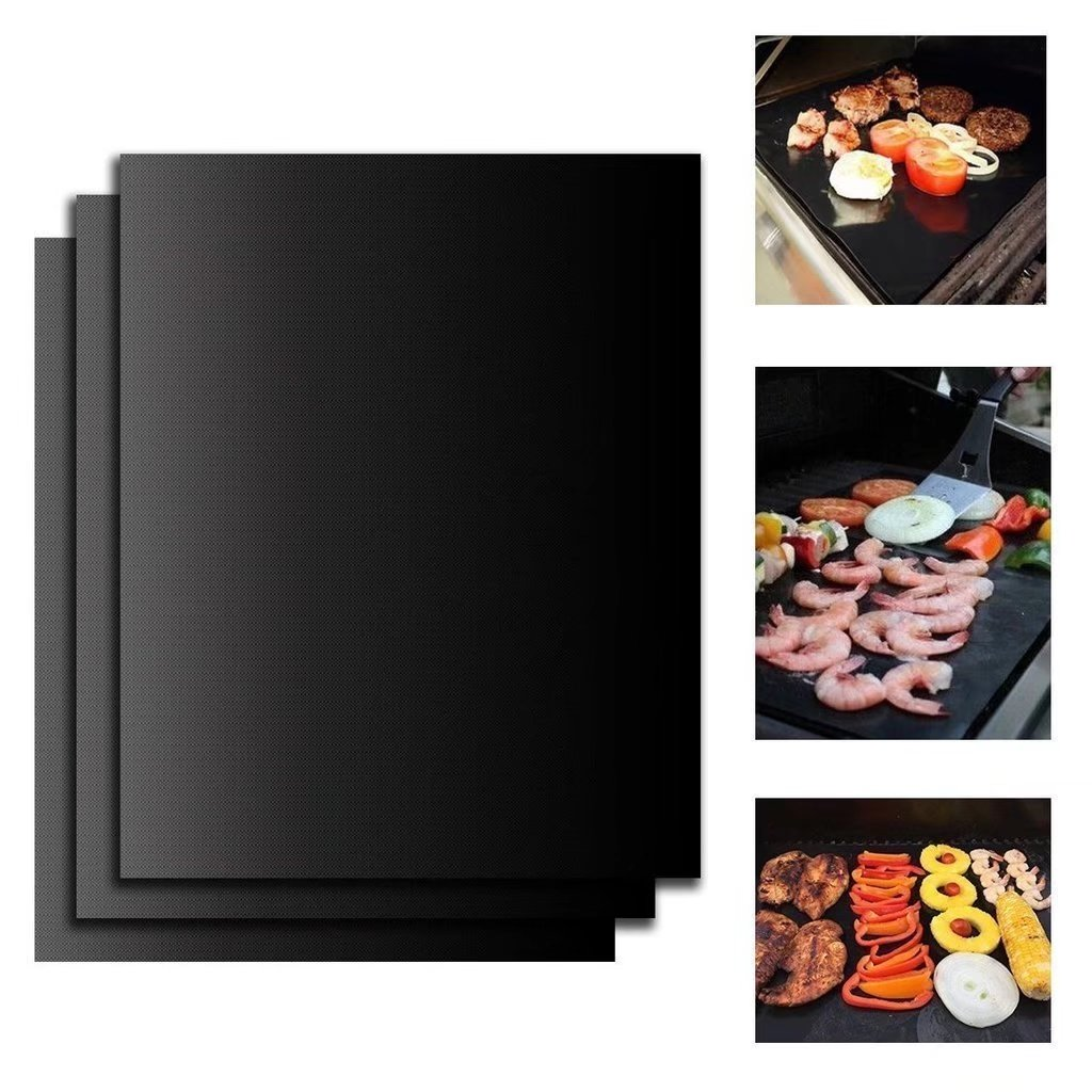 BBQ Grill Mats, 3 Pcs 15.75 x 13 Inches Lifetime Guarantee Nonstick Oven Liner BBQ Grill Mats for Electric, Gas and Toaster Ovens Teflon Cook Sheets
