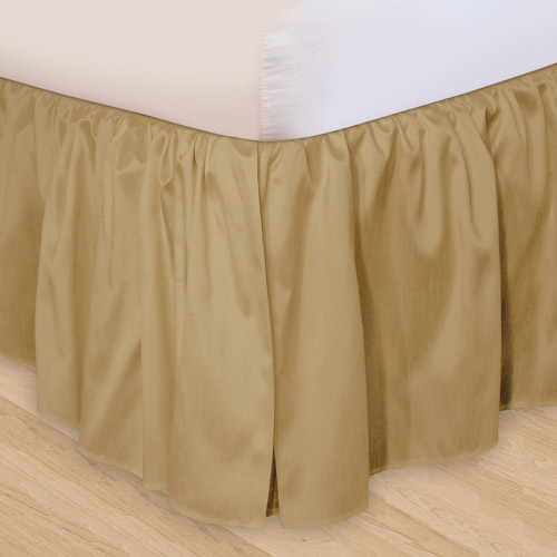 ruffled 3pc adjustable bed skirt - walmart