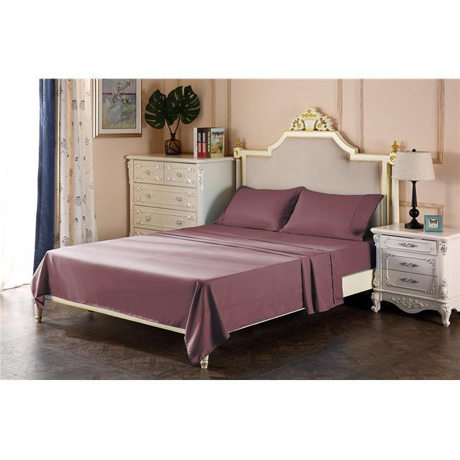 The Great American Store TGASUNBEAT21DEEP39 21 in. Deep Pocket Sheet Set Full Size Solid, Chocolate - 4 Piece