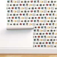 Removable Water-Activated Wallpaper Music Analog 80S Geek Chic Vintage Retro