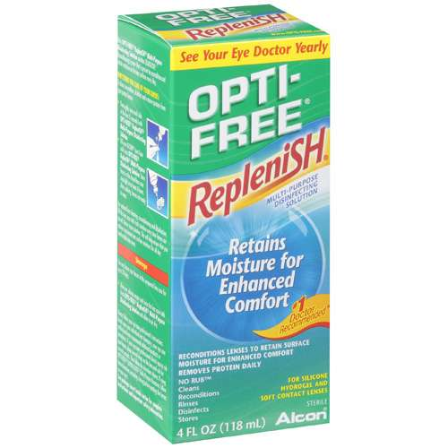 ALCON OPTI-FREE REPLENISH Contact Lens Care Cleaning & Disinfecting Solution - 4 fl oz