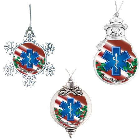 EMT Paramedic Merry Christmas 2019 Ornament Gift ()