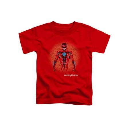 Web Red Shirt - Toddler: Power Rangers- Prismatic Red Ranger Baby T-Shirt Size 3T