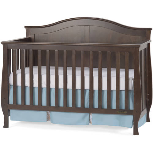 Child Craft Camden 4-in-1 Lifetime Convertible Fixed-Side Crib, Slate